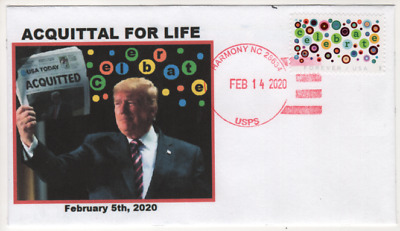 2020 Let's Celebrate Forever Stamp President TRUMP Acquittal Cachet U/O FDC A-4