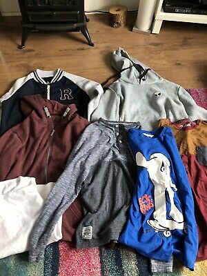 Huge Bundle Of Boys Clothes Age 11-12 Years Hoddies And Tops