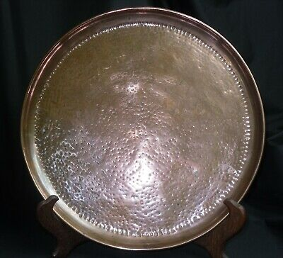 J Picard Hammered Copper Circular Tray British Arts And Crafts