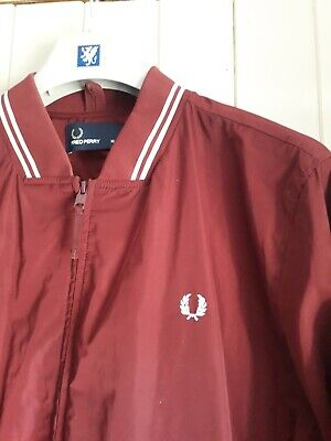 New Fred Perry Retro Harrington  Bomber Jacket Xl Xxl Mod Skin Vespa Lambretta