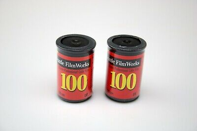 Lot of (2) Expired Rolls 100 iso 35mm 20exp Color Print Film Seattle Filmworks
