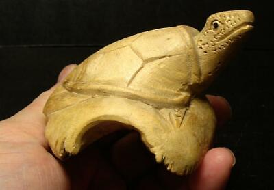 Highly Detailed Hand Carved Folk Art Turtle From Cypress Tree Root