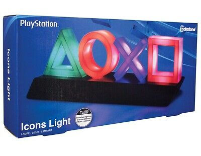 Official Paladone Playstation Icons Light PS4 Reactive Mode UK Seller