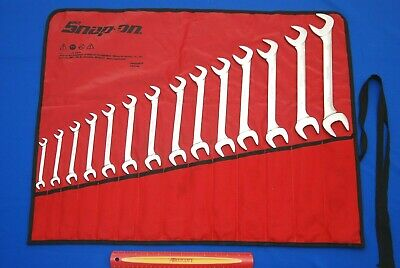 "Snap-On 14 Pc SAE Four-Way Angle Head Open-End Wrench Set (3/8-1-1/4"") VS817A"