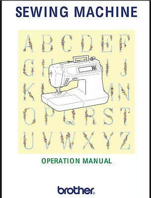 Brother PC-6500 Sewing Machine Owners Instruction Manual Reprinted New