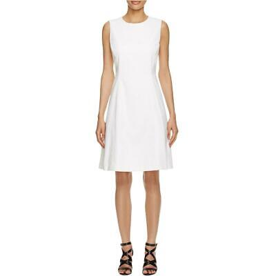 BOSS Hugo Boss Womens Deilina Ivory Eyelet A-Line Wear to Work Dress 0 BHFO 6944