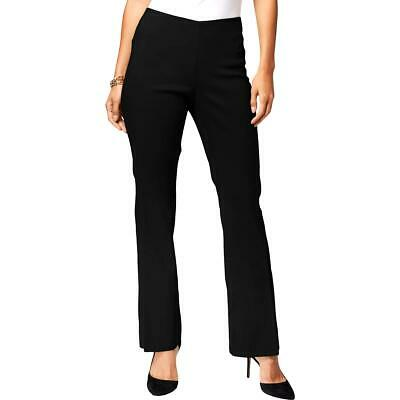 INC Womens Black Slit Straight Pull On Pants 6 BHFO 2931