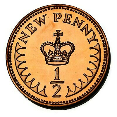 1977 UK Great Britain Halfpenny / 1/2 New Penny Proof Coin KM# 914, Sp# A1
