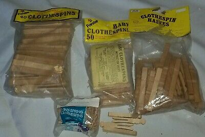 Forster Clothespin Leftover Art Supplies Halves,Full, Baby and Tiny