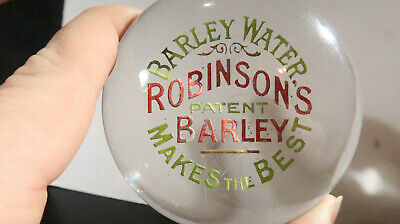 Robinson's Patent Barley Water Glass Paperweight
