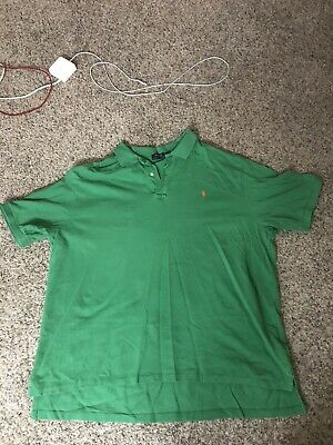 Polo by Ralph Lauren Men's Short Sleeve Big Pony & #3 Polo Shirt Size: 4XL-B