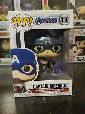 Funko Pop Marvel Avengers Endgame Captain America #450 Bobblehead WITH PROTECTOR