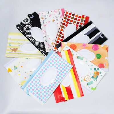 Flip Cover Tissue Box Cosmetic Pouch Wet Wipes Bag Stroller Accessories