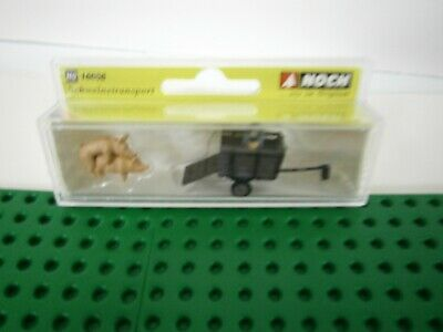 Noch 16656 Pig Transport 2 Pigs Mating Trailer With Farmer New Boxed.