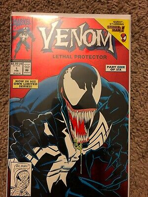 VENOM LETHAL PROTECTOR #1 FOIL 1992 1st PRINT MARVEL COMICS Movie Coming