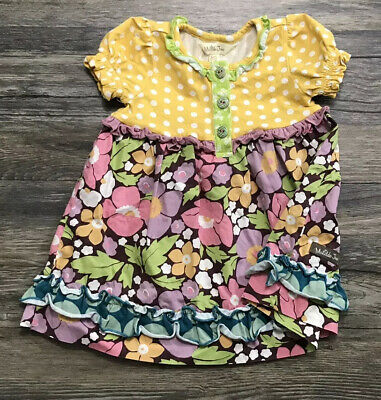 Matilda Jane Down Down Down Dress Infant Youth Sz 6-12 Months /