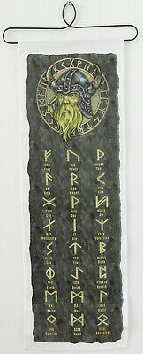 Scandinavian Swedish Norwegian Danish Finnish Viking Runic Alphabet Wall Hanging