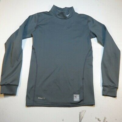 NIKE PRO DRI FIT COMPRESSION Lined BASELAYER LONG SLEEVE T SHIRT Youth M boys