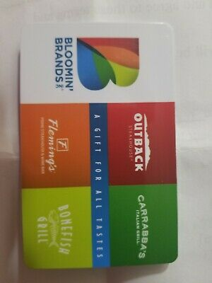 $50 Bloomin' Brands Gift Card Outback Fleming's Bonefish Grill Carrabba's