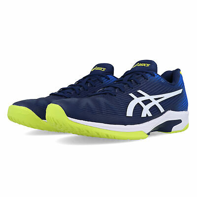 Asics Hombre Solution Speed Ff Tenis Zapatos Azul Deporte Transpirable Ligero