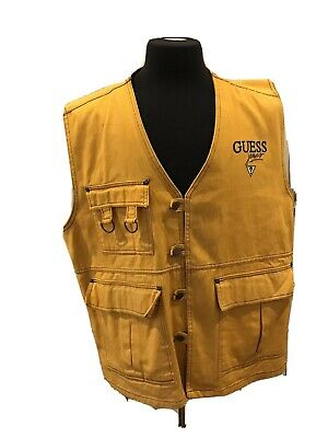 Vintage Guess Jeans Karl Kani Style Button Up Vest Made In USA SZ XL