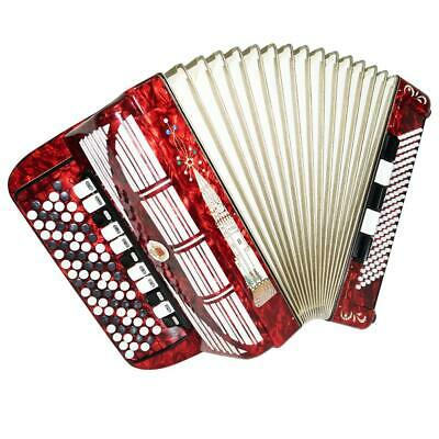 5 Row Weltmeister German Concert Button Accordion Bayan 120 Bass New Straps 1300