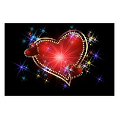 5D DIY Full Drill Diamond Painting Red Love Heart Cross Stitch Embroidery #JT1