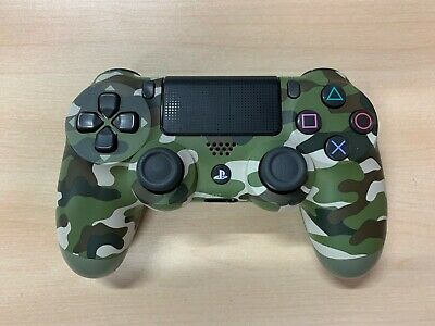 Sony Playstation 4   PS4 Official 2016 Green Camo Wireless Controller *Faulty*