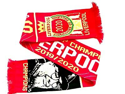 Liverpool Premier League Champions Scarf. 2019 2020 Winners Scarves