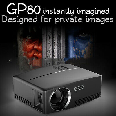 GP80 Portable USB 4K 1080P HD Video 3000 Lumens LED Mini Projector Home Theater