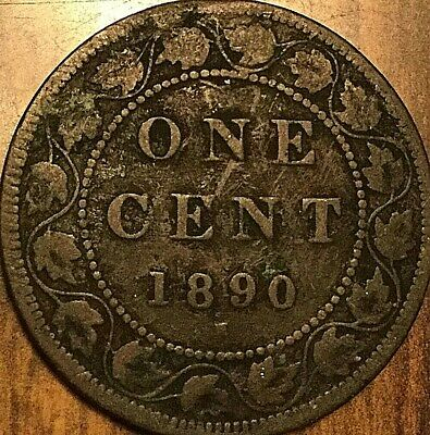 1890 H Canada Large 1 Cent