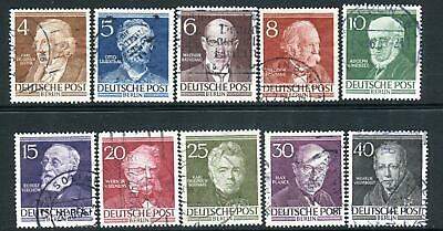 WEST BERLIN-1952-53 Famous Berliners Set of 10 Sg B91-100 FINE USED V36609