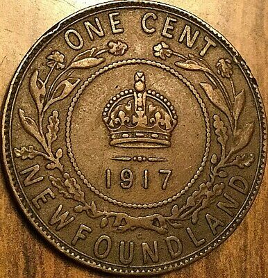 1917 Newfoundland Large Cent Penny Large 1 Cent Coin