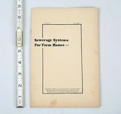 1924 Vintage Wisconsin Sewerage Systems Farm Homes Booklet Outhouse Septic Tanks