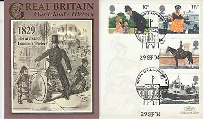 Benham Cover  1829 The Arrival of London Peelers Full set Police Stamps