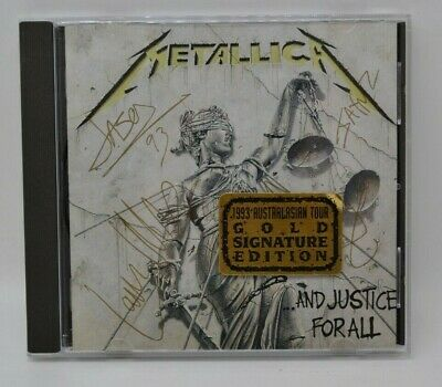 Metallica And Justice For All 1993 Australasian Tour Gold Signature Edition Cd