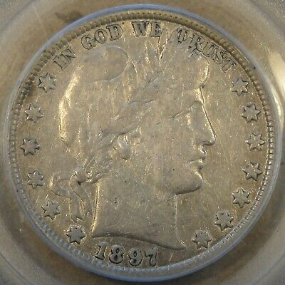 1897 Barber Half Dollar 50c PCGS Certified VF25 Not the Quality I like to Handle