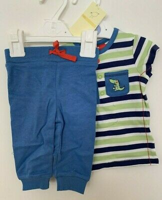 Marks And Spencer - Baby Boys Croc pocket top & Joggers Outfit 0-3 Months - BNWT
