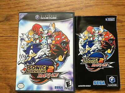 Sonic Adventure 2 Battle Nintendo GameCube COMPLETE Game+Case+Manual Black Label