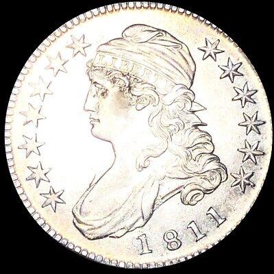1811 Capped Bust Half Dollar APPEARS UNCIRCULATED Philly ms bu Shiny 50c Silver!