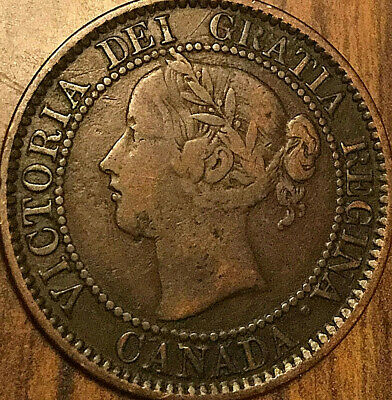 1859 Canada Large Cent Coin Large 1 Cent Penny