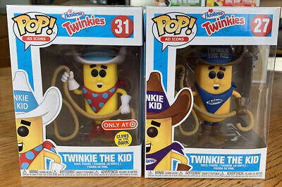 Funko Pop Twinkie The Kid Ad Icons Common And Target GITD Exclusive Lot Of 2