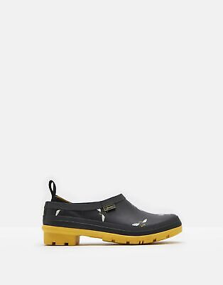 Joules Womens Pop On Welly Clogs - BLACK BEES Size Adult 4
