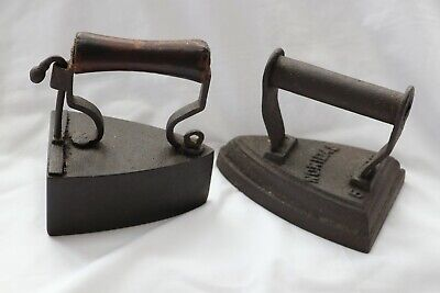 Two Victorian Cast Iron Flat Irons