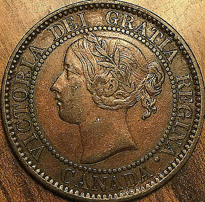 1859 CANADA LARGE CENT COIN LARGE 1 CENT PENNY - High 9