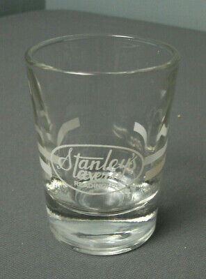 """Vintage Stanleys Tavern Reading PA Double Shot Glass - 3"""" T - Clear - 1  141"""