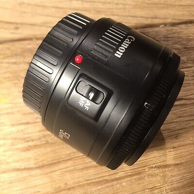 Canon EF 50mm F1.8 MK II Autofocus Prime Lens Sold with Front & Rear Lens Caps