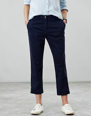 Joules Womens Hesford Crop Chinos - FRENCH NAVY Size 6
