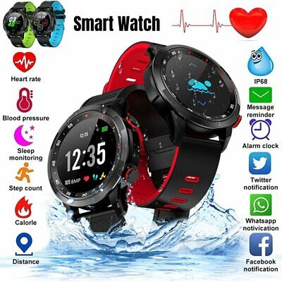 Smart Watch Men Women Heart Rate Blood Pressure Fitness Tracker Waterproof IP68