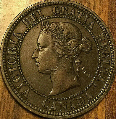 1876H Canada Large Cent Coin Large 1 Cent Penny
